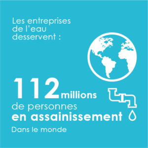 Les entreprises de l'eau traitent les eaux usées de 112 millions de personnes dans le monde (hors France).